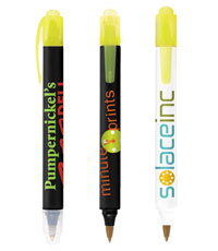 bic two sider pen with highlighter